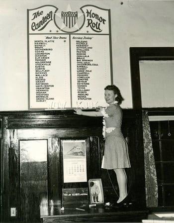 North Platte Canteen Honor Roll - Nebraska History